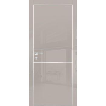 Дверь HGX-4 Латте глянец  Глянцевое покрытие глухое с молдингом