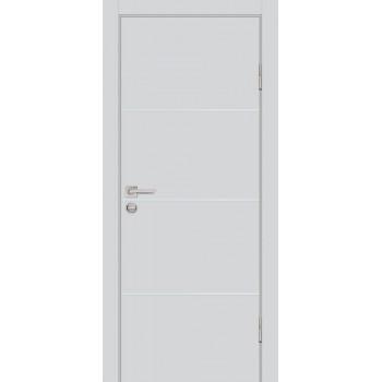Дверь P-1 Дуб скай серый  Экошпон глухое