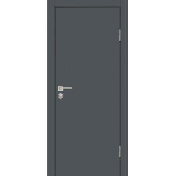 Дверь P-1 Графит  Экошпон глухое