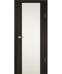 Дверь PS-24 Мокко  Экошпон Белое триплекс со стеклом