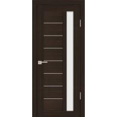 Дверь PS-40 Венге Мелинга  Экошпон белый сатинат со стеклом