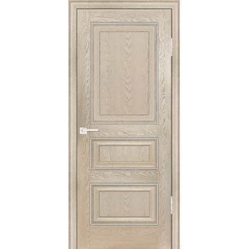 Дверь PSB-30 Дуб Гарвард бежевый  Экошпон глухое