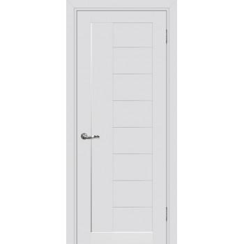 Дверь PSC-17 Агат  Экошпон белый сатинат со стеклом