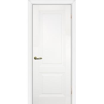Дверь PSC-28 Белый  Экошпон Сатинат, пескоструйная обработка глухое