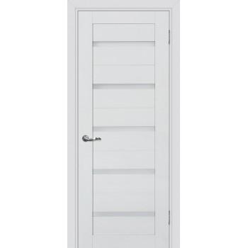 Дверь PSC-7 Агат  Экошпон белый сатинат со стеклом
