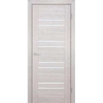 Дверь PSK-1 Ривьера крем  nanotex белый лакобель со стеклом