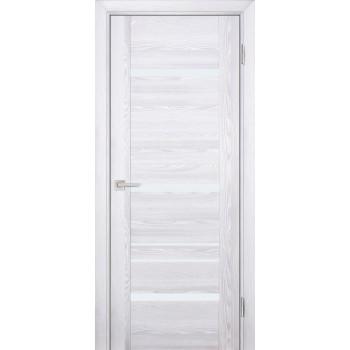 Дверь PSK-3 Ривьера айс  nanotex белый лакобель со стеклом