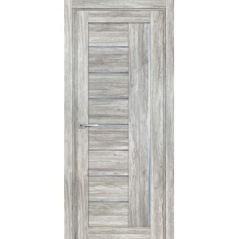 Дверь PSL-17 Сан-ремо серый  nanotex графит сатинат со стеклом