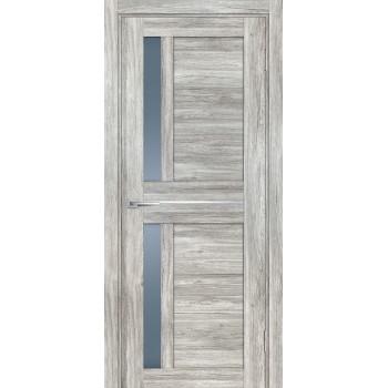 Дверь PSL-19 Сан-ремо серый  nanotex графит сатинат со стеклом