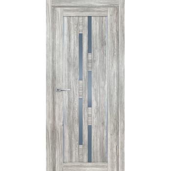 Дверь PSL-33 Сан-ремо серый  nanotex графит сатинат со стеклом