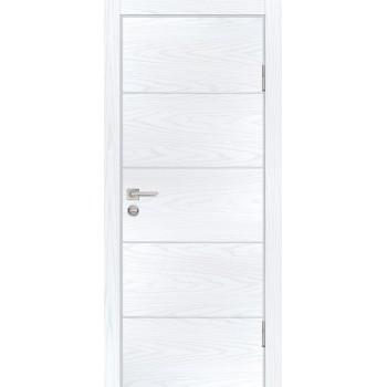Дверь P-12 Дуб скай белый  Экошпон глухое