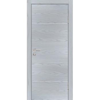 Дверь P-12 Дуб скай серый  Экошпон глухое