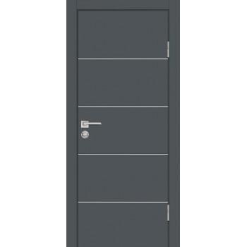 Дверь P-12 Графит  Экошпон глухое