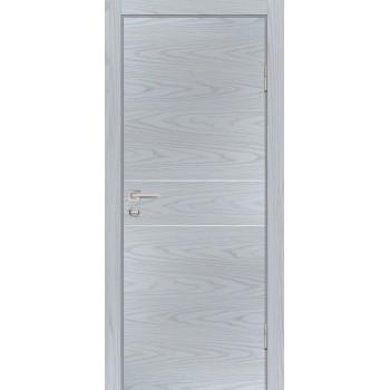 Дверь P-15 Дуб скай серый  Экошпон глухое