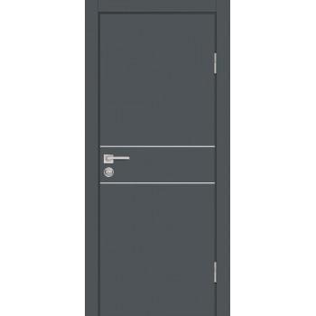 Дверь P-15 Графит  Экошпон глухое