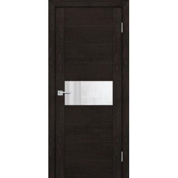 Дверь PSN- 5 Фреско антико  nanoflex белый лакобель со стеклом