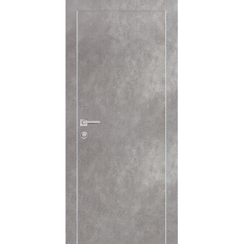 Дверь PX-1 Серый бетон  Экошпон глухое