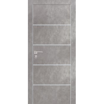 Дверь PX-12 Серый бетон  Экошпон глухое