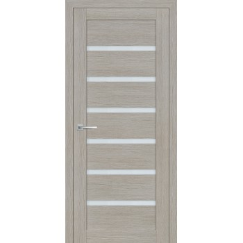 Дверь ST-607 Светло серый  3D покрытие белый сатинат со стеклом