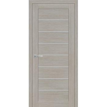 Дверь ST-608 Светло серый  3D покрытие белый сатинат со стеклом