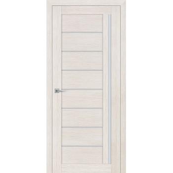 Дверь ST-641 ЭшВайт  3D покрытие белый сатинат со стеклом