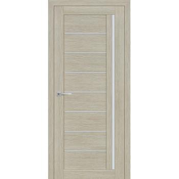 Дверь ST-641 Капучино  3D покрытие белый сатинат со стеклом