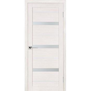 Дверь ST-642 ЭшВайт  3D покрытие белый сатинат со стеклом