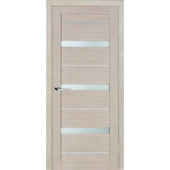 Дверь ST-642 Капучино  3D покрытие белый сатинат со стеклом