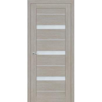 Дверь ST-642 Светло серый  3D покрытие белый сатинат со стеклом