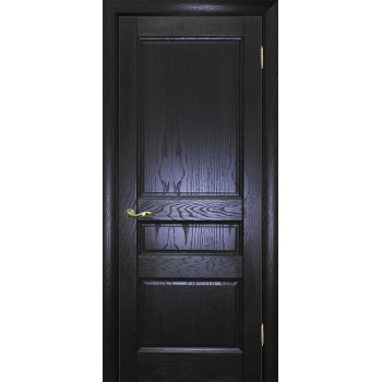 Дверь Вайт 02 Дуб патинированный  Шпон глухое