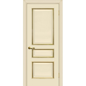 Дверь Мурано-2 магнолия, патина золото  Экошпон глухое