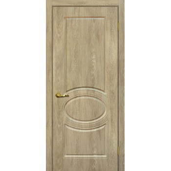 Дверь Сиена-1 Дуб песочный  PVC глухое