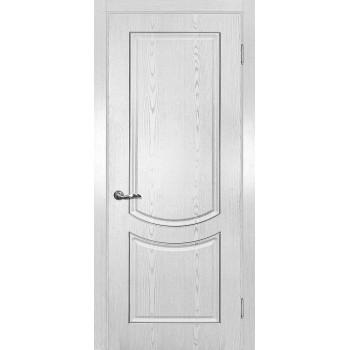 Дверь Сиена-3 патина белый серебро контур патина серебро  PVC глухое