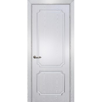 Дверь Сиена-4 патина Белый серебро  PVC глухое