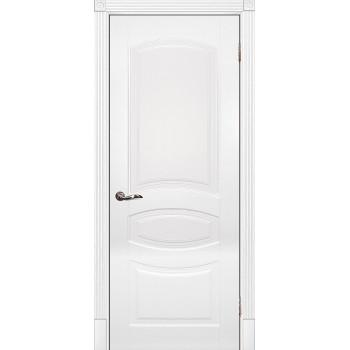 Дверь Смальта 02 Белый ral 9003  Эмаль глухое