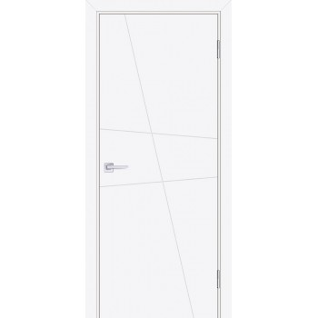 Дверь Смальта-Лайн 02 Белый ral 9003  Эмаль глухое