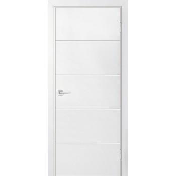 Дверь Смальта-Лайн 03 Белый ral 9003  Эмаль глухое
