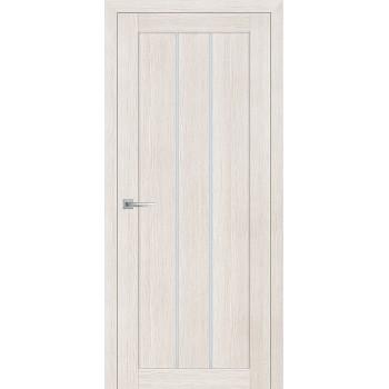 Дверь ТЕХНО-602 ЭшВайт  3D покрытие белый сатинат со стеклом
