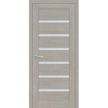 Дверь ТЕХНО-607 Светло серый  3D покрытие белый сатинат со стеклом