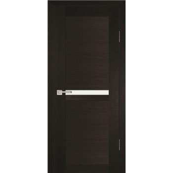 Дверь PS-03 Венге Мелинга  Экошпон белый сатинат со стеклом