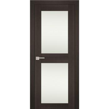 Дверь PS-04 Венге Мелинга  Экошпон белый сатинат со стеклом
