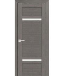 Дверь PS-05 Грей Мелинга  Экошпон белый сатинат со стеклом