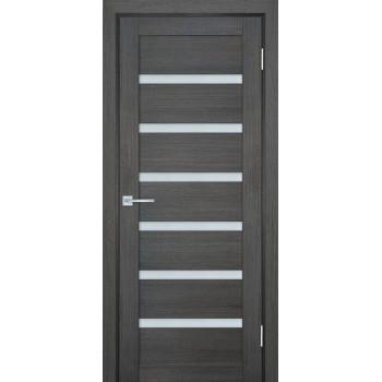 Дверь ТЕХНО-707 Грей  nanotex белый сатинат со стеклом