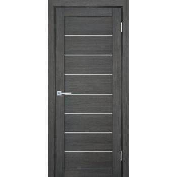 Дверь ТЕХНО-708 Грей  nanotex белый сатинат со стеклом