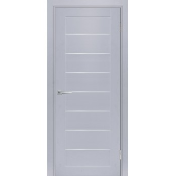 Дверь ТЕХНО-708 Муссон  nanotex белый сатинат со стеклом