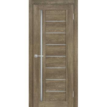 Дверь ТЕХНО-801 Бруно  nanotex белый сатинат со стеклом
