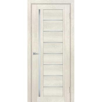 Дверь ТЕХНО-801 Бьянко  nanotex белый сатинат со стеклом