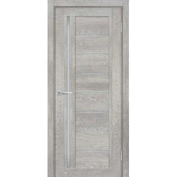Дверь ТЕХНО-801 Чиаро гриджио  nanotex белый сатинат со стеклом