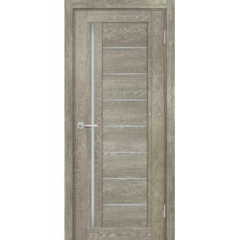 Дверь ТЕХНО-801 Гриджио  nanotex белый сатинат со стеклом