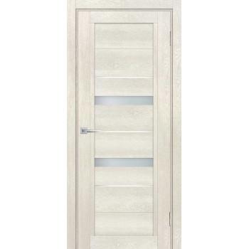 Дверь ТЕХНО-802 Бьянко  nanotex белый сатинат, белый лакобель со стеклом